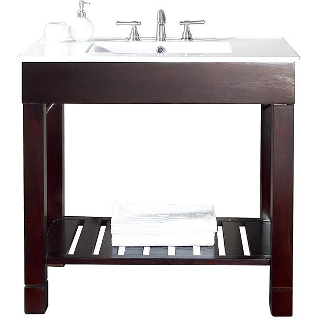 avanity loft 48 inch single vanity in dark walnut finish with sink and