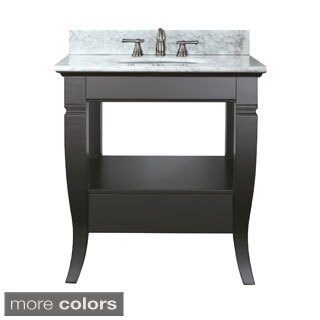 Avanity Milano 30-inch Single Vanity in Black Finish with Sink and Top