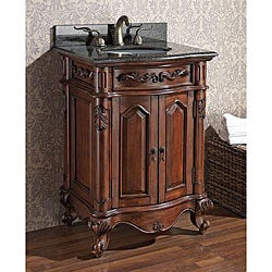 Avanity Provence 24-inch Single Vanity in Antique Cherry Finish with Sink and Top