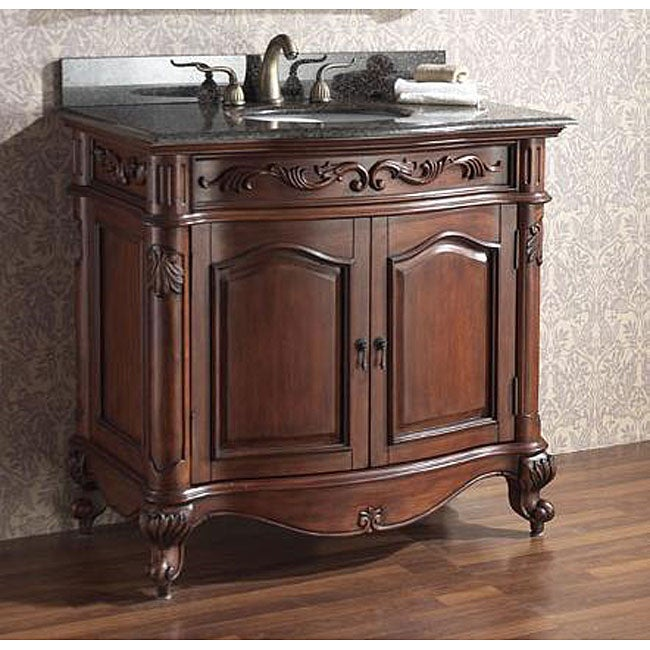 Avanity Provence 36 Inch Single Vanity In Antique Cherry Finish With Sink And Top Free