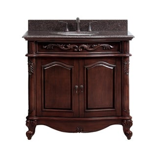 Avanity Provence 36 Inch Single Vanity In Antique Cherry Finish With Sink  And Top