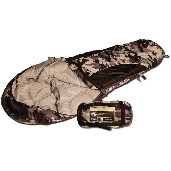 Grizzly Camo Kid +35-degree Mummy Bag