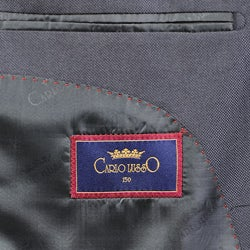 Men's Solid Black Three-button Suit - Thumbnail 2
