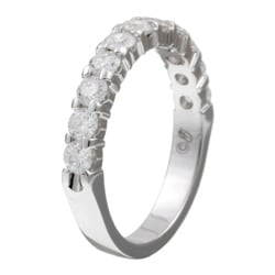 Unending Love 14k White Gold 1ct TDW Diamond Anniversary Band - Thumbnail 1