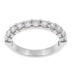 Unending Love 14k White Gold 1ct TDW Diamond Anniversary Band