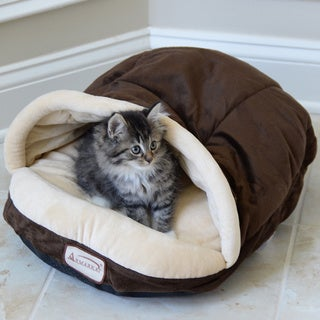 Armarkat Slipper-shaped Mocha Pet Bed