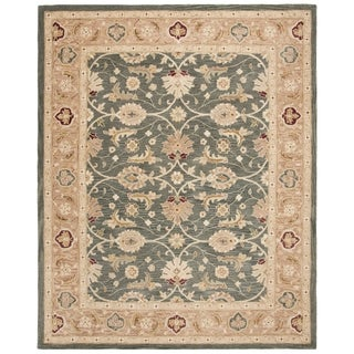 Safavieh Handmade Anatolia Oriental Legacy Teal Blue/ Taupe Hand-spun Wool Rug (8' x 10')