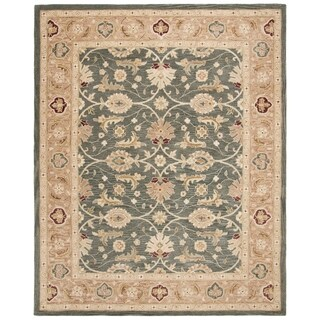 Safavieh Handmade Anatolia Oriental Legacy Teal Blue/ Taupe Hand-spun Wool Rug (9' x 12')