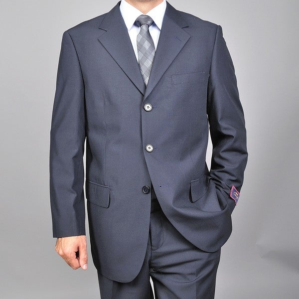 Men's Navy Blue Three-button Suit