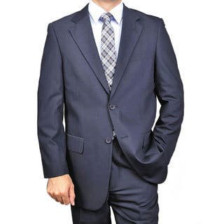 Men's Navy Blue Classic Two-button Suit|https://ak1.ostkcdn.com/images/products/4416068/P12375844.jpg?impolicy=medium