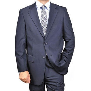 Men's Navy Blue Classic Two-button Suit (More options available)