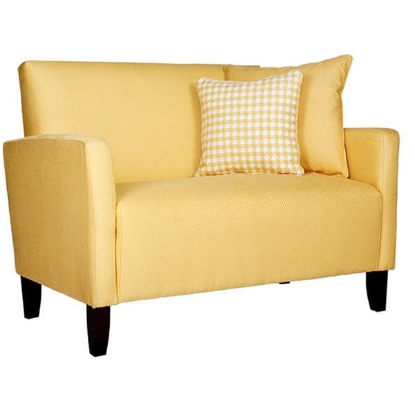 Handy Living Sutton Sunflower Yellow Loveseat - Free ...