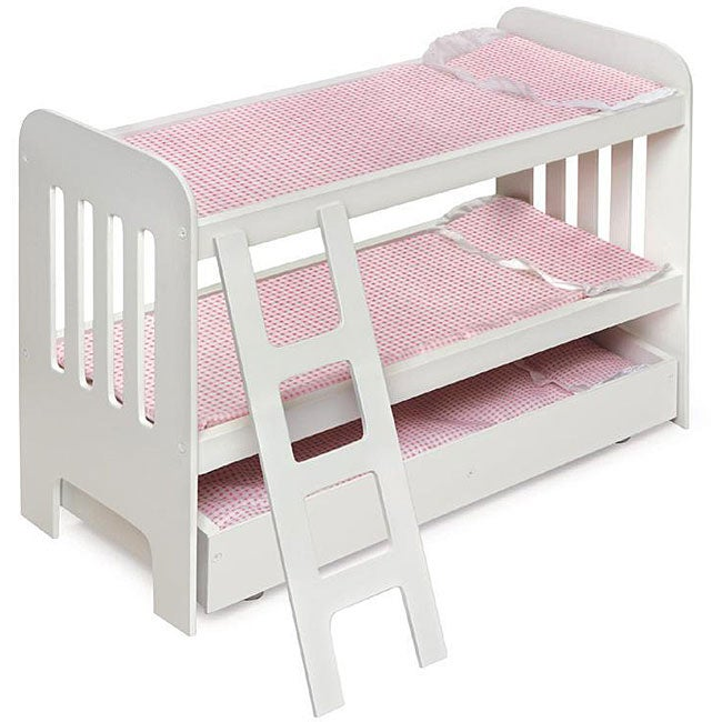Badger Basket Co Doll Trundle Bunk Beds with Ladder - Thumbnail 0