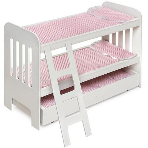 Badger Basket Co Doll Trundle Bunk Beds with Ladder