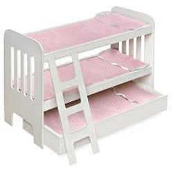 Badger Basket Co Doll Trundle Bunk Beds with Ladder - Thumbnail 1