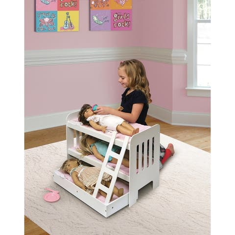 Badger Basket Doll Trundle Bunk Bed with Ladder