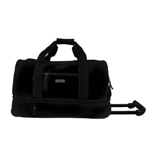 J World 'Stadium' 22-inch Double-handled Expandable Carry-on Upright Rolling Duffel