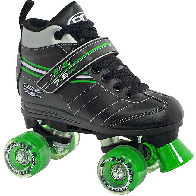Roller Derby Laser 7.9 Boys' Speed Quad Skate (Size 04), ...