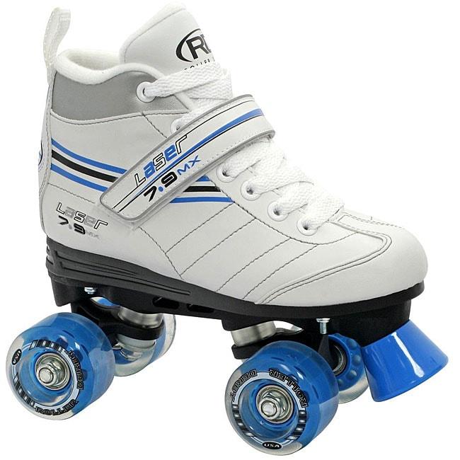 Girl's Roller Derby Laser 7.9 Speed Quad Skates (4), White