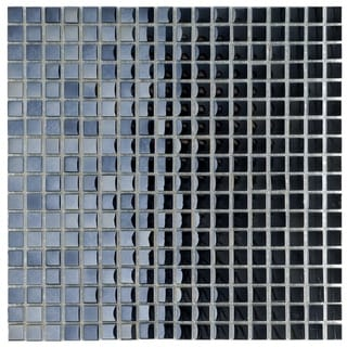 SomerTile 12x12-in Obsidian Mini 5/8-in Mirror Glass Mosaic Tile (Pack of 10)