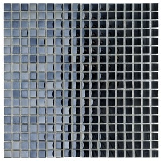 SomerTile 11.75x11.75-inch Obsidian Mini Mirror Glass Mosaic Wall Tile (10 tiles/9.79 sqft.)