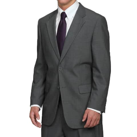 Men's 2-button Solid Classic Medium Grey Suit