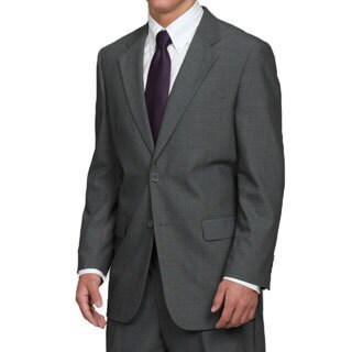 Men's Grey 2-button Solid Classic Medium Suit (More options available)