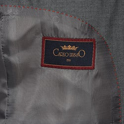 Men's 3-button Solid Medium Grey Suit