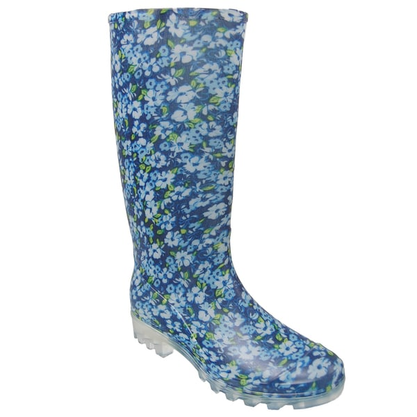 Journee Collection Women&39s Floral Print Rain Boots - Free Shipping