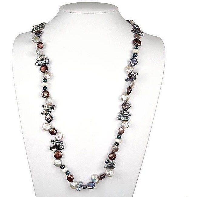 Freshwater Pearl Chinaware Necklace (20 mm)