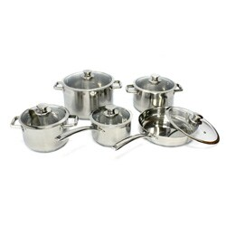 Gourmet Chef 10-piece Stainless Steel Cookware Set