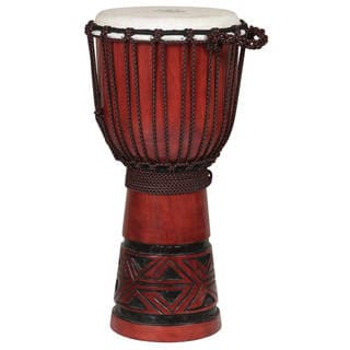 Handmade Celtic Labyrinth Djembe Drum (Indonesia)