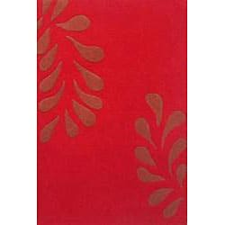 Hand-tufted Charming Red Wool Rug (8' x 11')