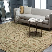 Hand-knotted Legacy Beige New Zealand Wool Area Rug - 10' x 14'