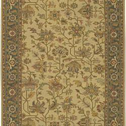 Hand-Knotted Sangli Oriental-Pattern New Zealand Wool Rug (10' x 14')