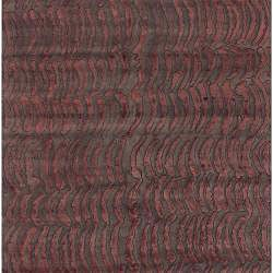 Hand-knotted Royal Abstract Design Wool Rug (9' x 13') - Thumbnail 1