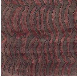 Hand-knotted Royal Abstract Design Wool Rug (9' x 13') - Thumbnail 2