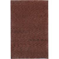Hand-knotted Red Royal Abstract Design Wool Area Rug - 9' x 13'