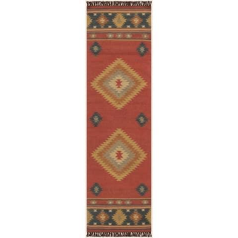 Fernie Hand-woven Southwestern Wool Area Rug