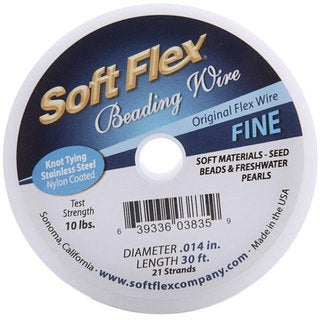 Soft Flex 28-gauge Satin Silver Beading Wire (30-foot Spool)