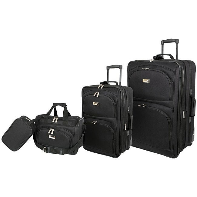 Geoffrey Beene Black 4-piece Westchester Collection Luggage