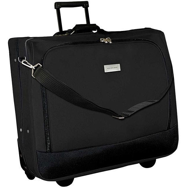 Geoffrey Beene Black Wheeled Carry-On Garment Bag - Thumbnail 0