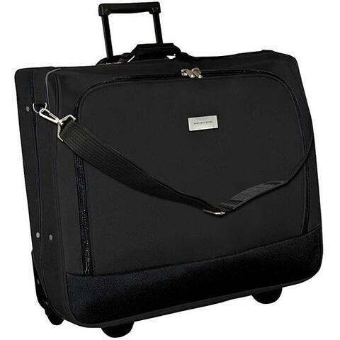Geoffrey Beene Black Wheeled Carry-On Garment Bag