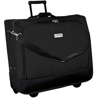 Geoffrey Beene Black Wheeled Carry-On Garment Bag