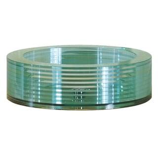 Avanity Segmented Tempered Glass Round Sink Vessel