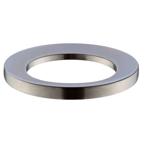 "Avanity Brushed Nickel Mounting Ring for Above-counter Vessel Sinks - 3""W x 3""L x 0.4""H"