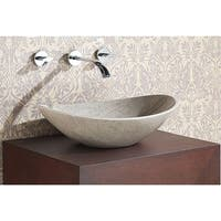 """Avanity 20.1-inch Oval Grey Marble Stone Vessel Sink - 20.1""""W x 5.9""""D"""