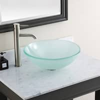 "Avanity Tempered Frosted Glass Sink Vessel - 16.5""W x 5.5""D"