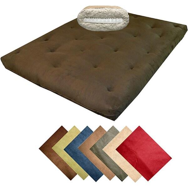 8-inch Loft Full-size Cotton/ Foam Microfiber Suede Premiere Futon Mattress