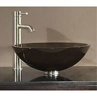 Avanity Tempered Glass Brown Vessel Sink